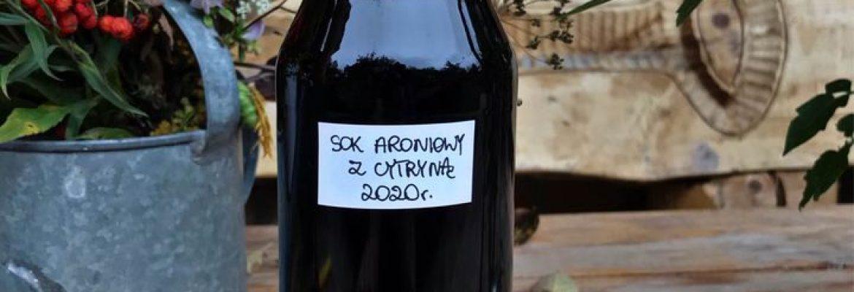 Sok aroniowy z cytryną